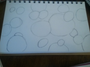 Desk art - circles, uncolored